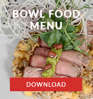 bowl food menu catering company cape town