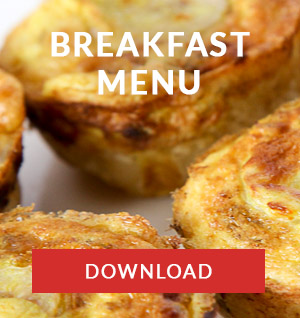 breakfast menu catering company cape town