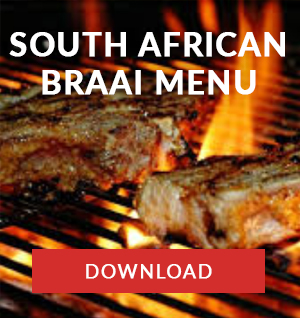 south african braai menu catering company cape town