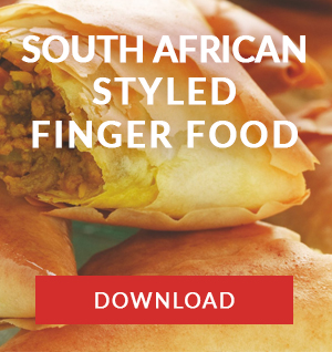 south african styled finger food menu catering company cape town