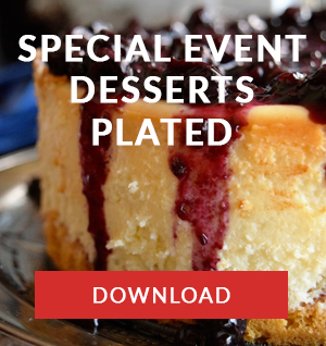Special Events Desserts Plated menu CAPE TOWN