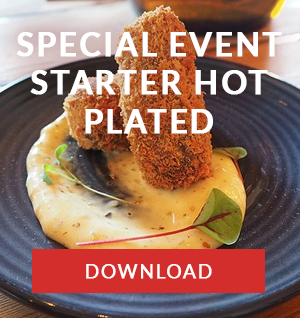 Special Events Starters Hot Plated menu cape town