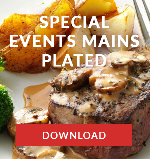 Special Events main plated menu CAPE TOWN catering